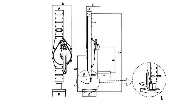 Structure of Low Claw Mechanical Jacks