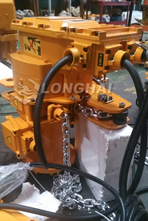 Low-headroom Explosion-proof Electric Chain Hoist
