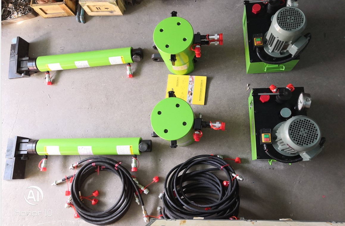 detailed parts of Heavy Track Hydraulic Skidding System